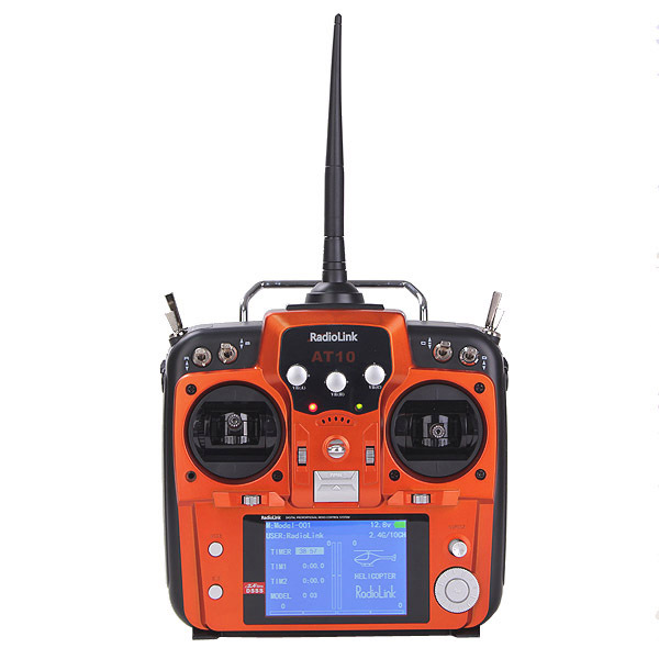 RadioLink AT10 2.4GHz 10CH Remote Control System 10 Channel Transmitter Receiver R10D for RC Helicopter<br><br>Aliexpress