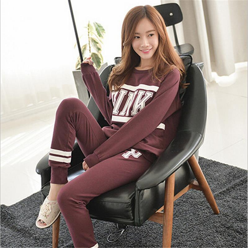 2015 New Female Pajama Sets O-Neck Long Sleeve Lady Sleepwear Fashion Pyjamas Nightwear Home Wear For Women(China (Mainland))