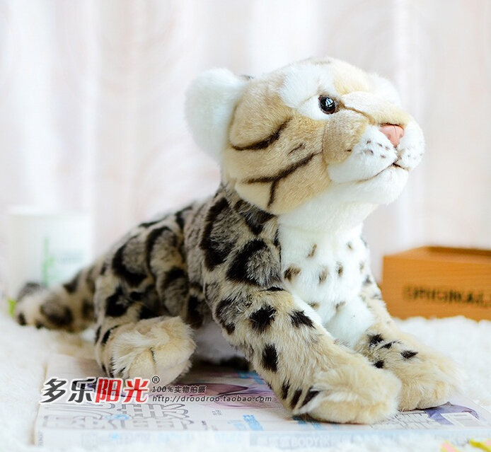 Clouded Leopard Doll Plush Leopard Moire Toys Simulation Wild Large Stuffed Animals High Quality Toy Shops(China (Mainland))
