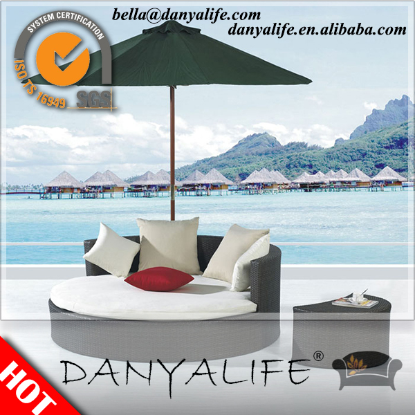 DYBED-D3101 Danyalife Deluxe All Weather Furniture OEM Backyard Rattan Bed(China (Mainland))
