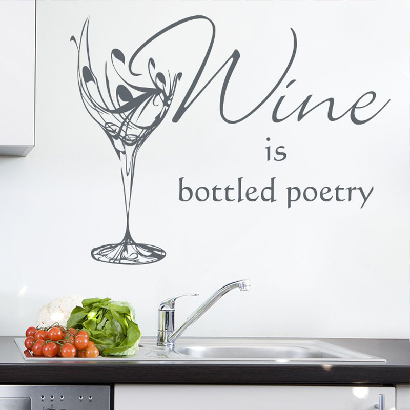 wine glass kitchen sticker personalised wall sticker wall art designs kitchen wall art kitchen wall stickers