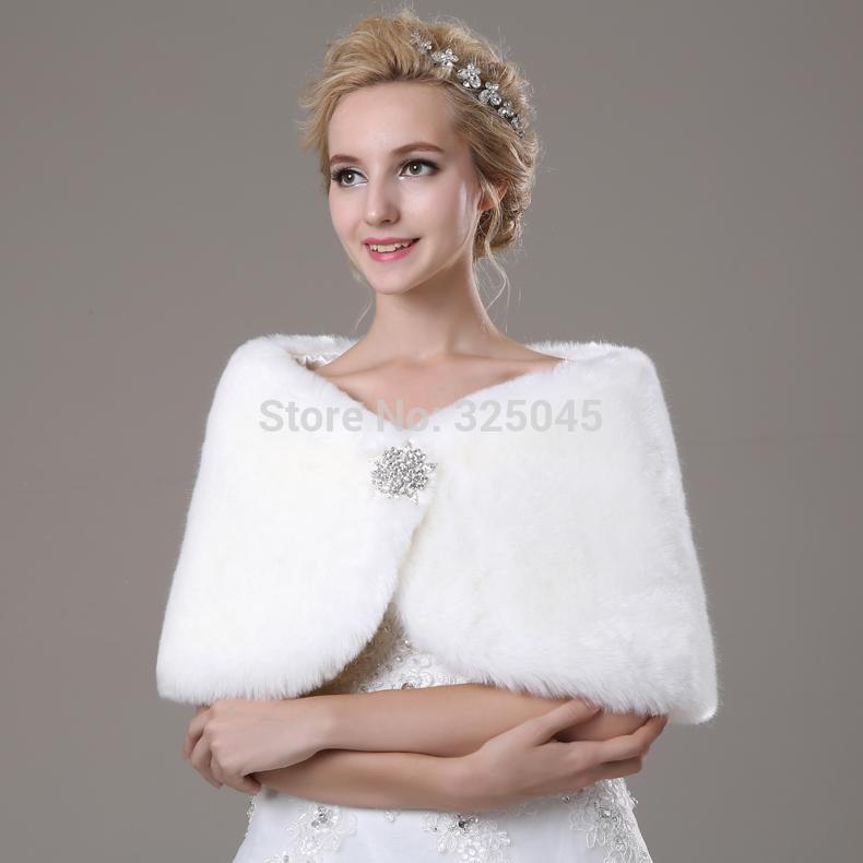 Fur shawl wrap shrug bolero coat bridal shawl jacket 2014 for Fur shrug for wedding dress