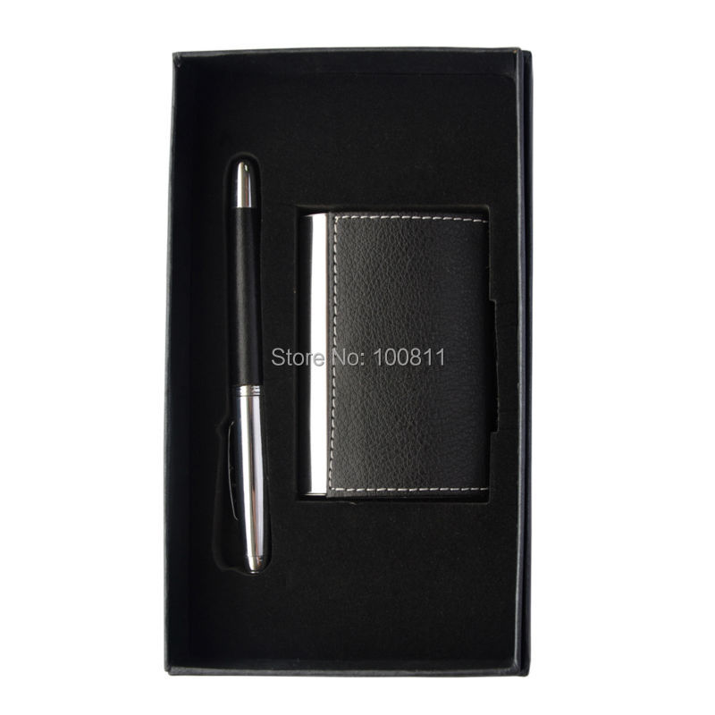 wholesale on line elegant business promotion gift sets logo in pen and business card holder<br><br>Aliexpress