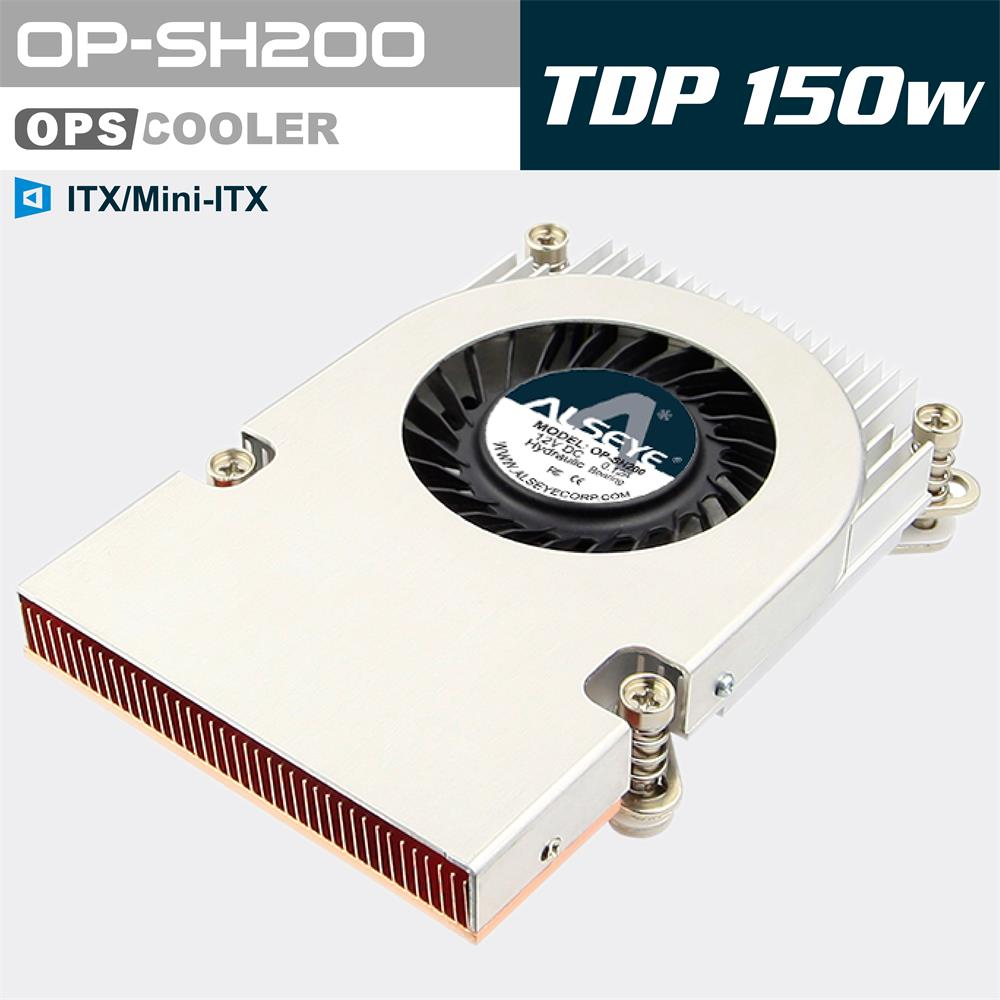 ALSEYE OP-SH200 ITX/OPS cpu cooler 95W 4200RPM 70mm cooling fan radiator Copper & Aluminum Heatsink cooler for LGA 775 / 115*(China (Mainland))