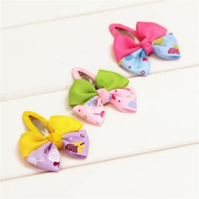 Two-color lollipop gift children kids baby girls hair accessories clip hairpins barrettes headwear bow flower wholesale JB-95(China (Mainland))
