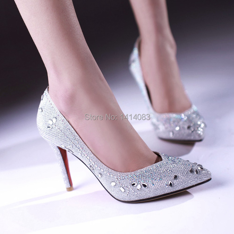Popular Silver Diamond High Heel Shoes-Buy Cheap Silver Diamond
