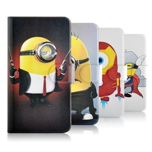 HOT 3D Movie lovely Despicable funny Minions Silicone Rubber Credit leather Cartoon cover case LG G3 stylus D690 - Online Store 926966 store