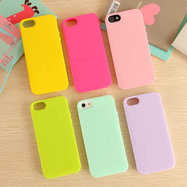 Solid Candy Color TPU Soft Rubber Skin Cover Phone Case for Apple iphone 5 5g 5s Phone Cover Case Accessories 15 Colors(China (Mainland))