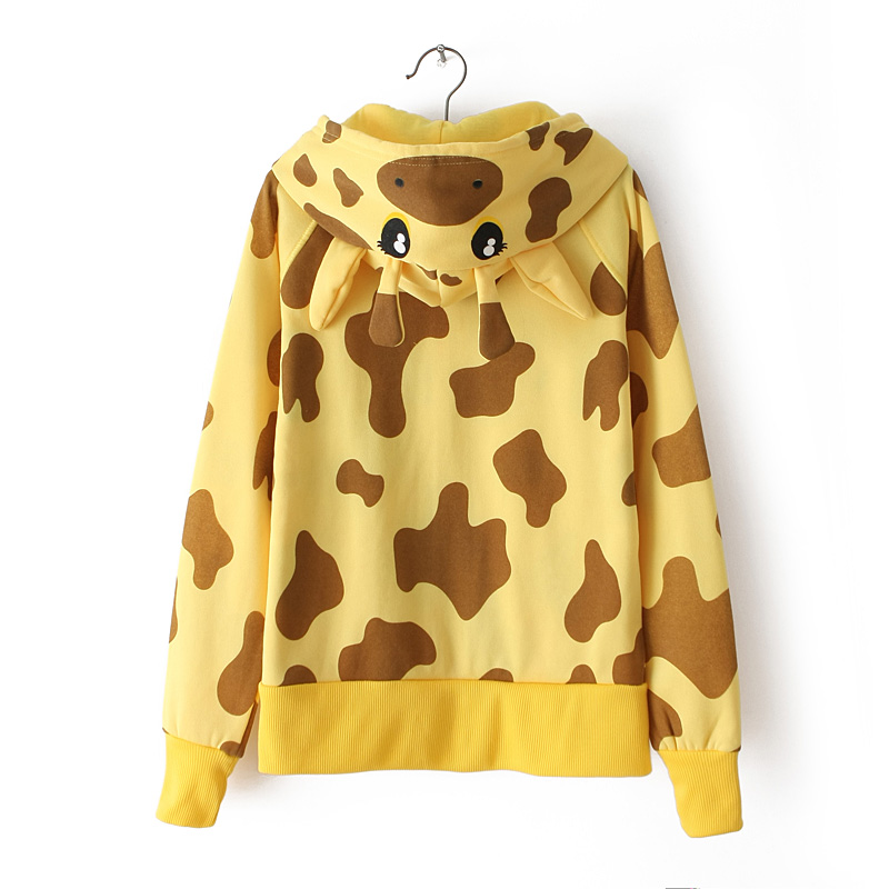 Autumn Winter Cosplay Animal Giraffe Leopard Hoodie with ...