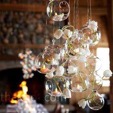 10PCS/Lot 80MM  Hanging Tealight Holder Glass Planter Terrarium  Glass Globe Candle Holder Wedding Candlestick Wedding Decor(China (Mainland))