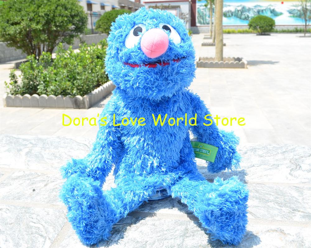 35cm Sesame Street Plush Hand Puppet, COOKIE MONSTER Baby Kids Gift Free Shipping(China (Mainland))