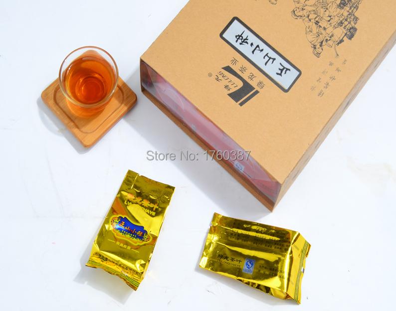Organic 2015 new brand Chinese Black Kungfu Tea 250g xiaozhong green food tea Warm Stomach fragrance