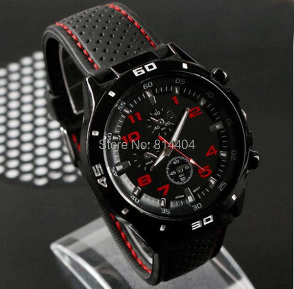 Гаджет  Fashion Black Stainless Steel Luxury Sport Analog Quartz Clock Mens Wrist Watch None Часы