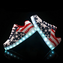 New 2016 Fashion Women Shoes Led For Adults Schoenen men Casual Chaussures Lumineuse Light Up Shoes Femme Luminous Gold Silver(China (Mainland))