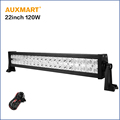 Auxmart Cree Chips 22inch 120W LED Light Bar straight Combo Driving Work Bar Light Truck trailer