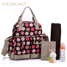 Colorland 11colors multifunctional 4carry styles waterproof maternity mommy nappy baby diaper bag changing mat babies care bags(China (Mainland))