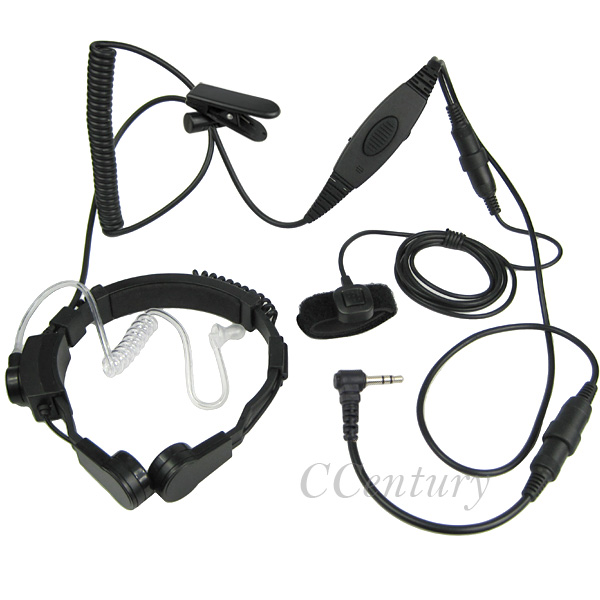 1 Pin Throat Microphone Mic Headset Headphone for Motorla Portable Radio T5428 T5920 T6200 FRS GMRS FR50 FR60 For Cobra MT750(China (Mainland))