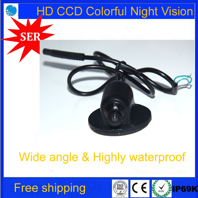 Promotion Mini CCD HD Night Vision 360 Degree Car Rear View Camera Front Camera Front View Side Reversing Backup Camera(China (Mainland))