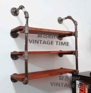 industriel am ricain de style trois niveaux tuyaux industriels plomberie racks plateau. Black Bedroom Furniture Sets. Home Design Ideas