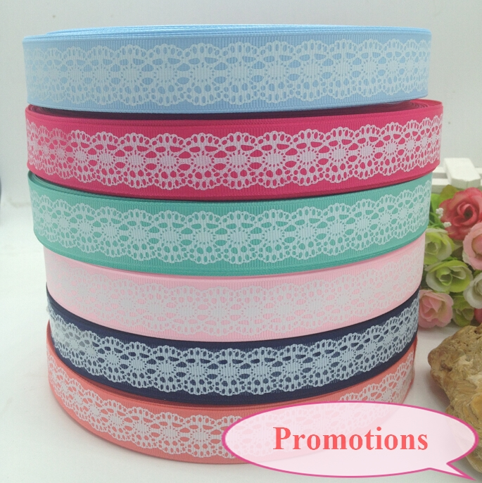 "12 yards 1"" mix color printed grosgrain ribbon wedding christmas decoration products for hair bows belt A078(China (Mainland))"