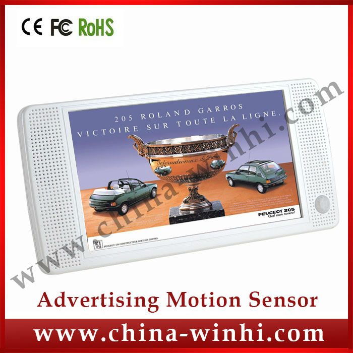 7inch plastic shell retail store equipment USB SD Motion Sensor LCD Advertising Player lcd media player tv card player kiosk(China (Mainland))