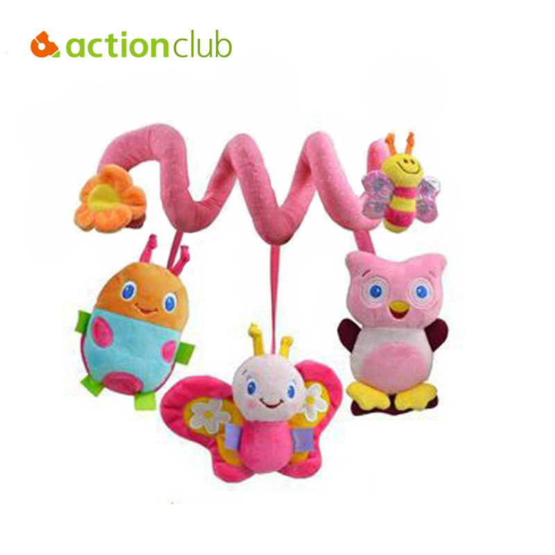 2015 new infant Toys Baby crib revolves around the bed stroller playing toy car lathe hanging baby rattles Mobile 0-12 months(China (Mainland))