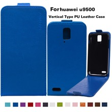 TYX Brand PU Leather Flip Case For Huawei Ascend D1 U9500 With Vertical Magnetic Case Phone Cover Bags 14 Colors Available(China (Mainland))