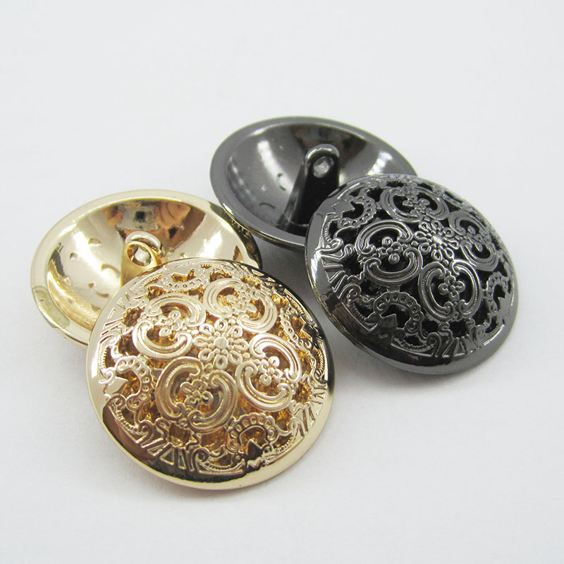 10pcs Clothing accessories hollow sculpture fashion ladies coat buttons metal buttons(China (Mainland))