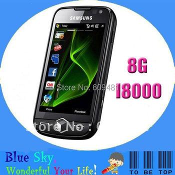 free shipping Samsung mobile phone i8000 Omnia II 8G original unlocked factory refurbished