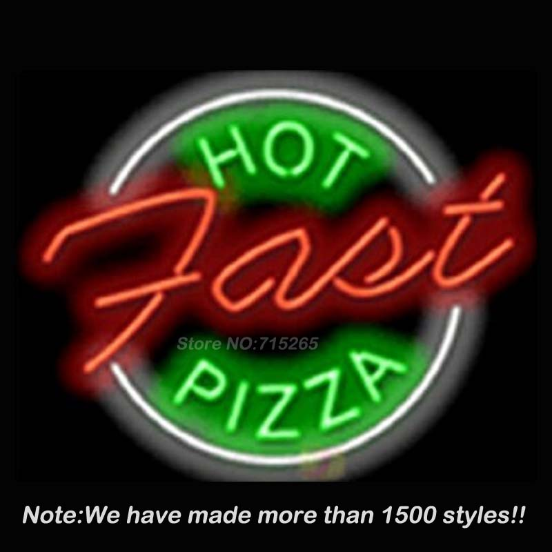 New Hot Pizza Neon Sign Neon Bulbs Store Display Real Glass Tube Handcrafted Art Design Decorate Advertising GiftS17x14(China (Mainland))