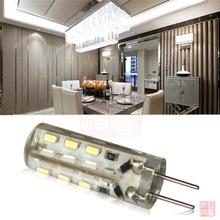 INEXTSTATION Brand 1.5 W G4  SMD 3014 24 LED Spot Light Silicone Lamp Corn Bulb DC 12V  White 10pcs/lot(China (Mainland))