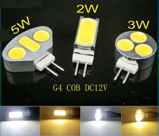 50pcs Mini G4 fan panel lights Cabinet light 2W 3w 5W DC12V COB Crystal Lamp Corn Bulb Droplight Chandelier Led Car Spotlight(China (Mainland))
