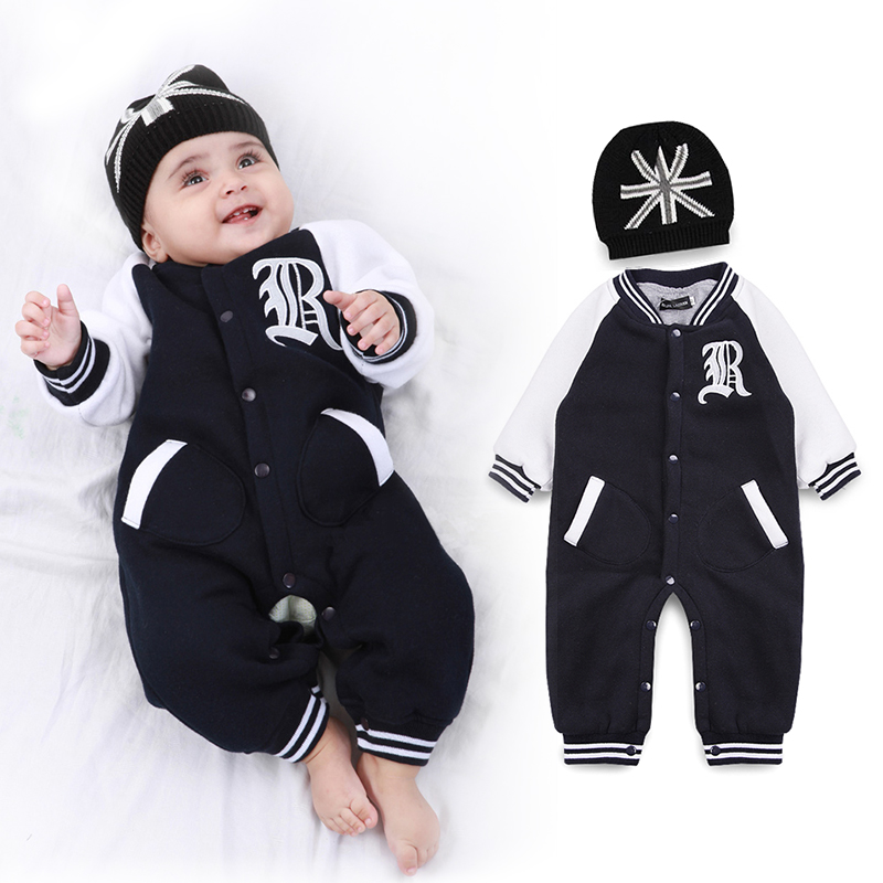 Clothing Set Baby clothing set New 2015 cartoon cotton children baby boys girls clothes 3 pieces set( Romper+Hat +bibs)<br><br>Aliexpress