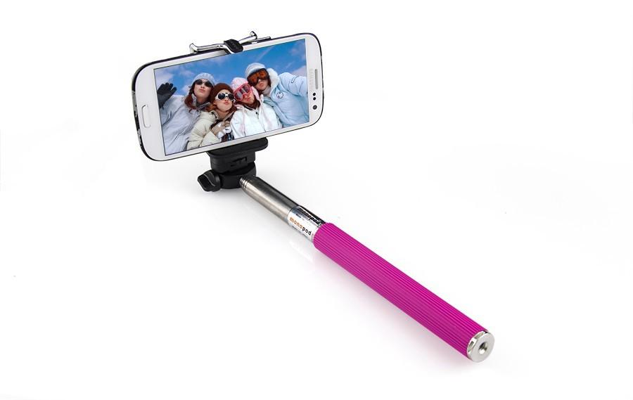 Монопод - удлинитель для айфона идеально подойдет для путешествий и любителям запечатлеть себя и друзей не прибегая к помощи посторонних людей. Теперь вы сможете сделать отличный Selfie для instagram с друзьями благодаря держателю для селфи. Цена 790 руб