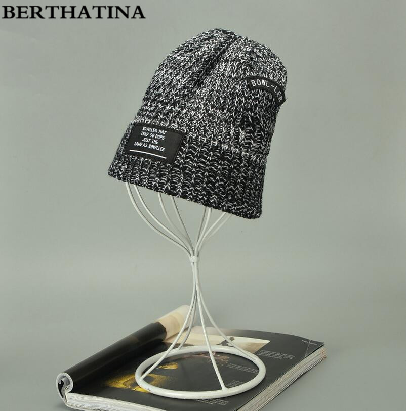 BERTHATINA Women New Design Caps beanies Twist Pattern Solid Color Women Autumn Winter Hats Fashion Knitted Sweater Hats(China (Mainland))