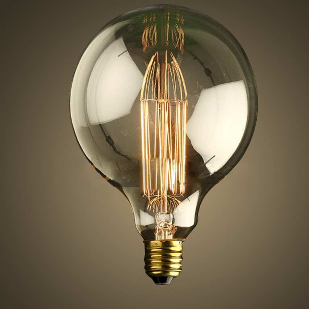 Free Shipping 1900 Antique Vintage Edison Light Bulb G125 40w 220v E27 Radiolight Large Squirrel
