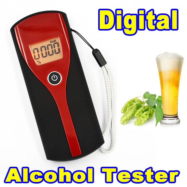 New Arrival Digital Portable Alcohol Breath Tester Breathalyzer Analyzer Detection LCD Display Backlight Alcoholicity Meter(China (Mainland))