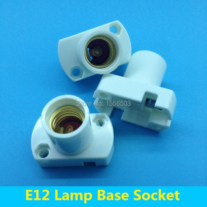 100 PCS E12 Lamp Bases Screw Lamp Holder Bracket Fitting Wall Socket E12 Aging Test Fix for LED Bulb Lamp(China (Mainland))
