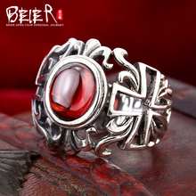 Beier 925 silver sterling jewelry 2015 high quality new hot sale single ruby ring man and women gift D1190(China (Mainland))