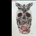 HL 011 skulls 3d tattoo flash temporary tattoo high quality large waterproof tattoo sticker size 21