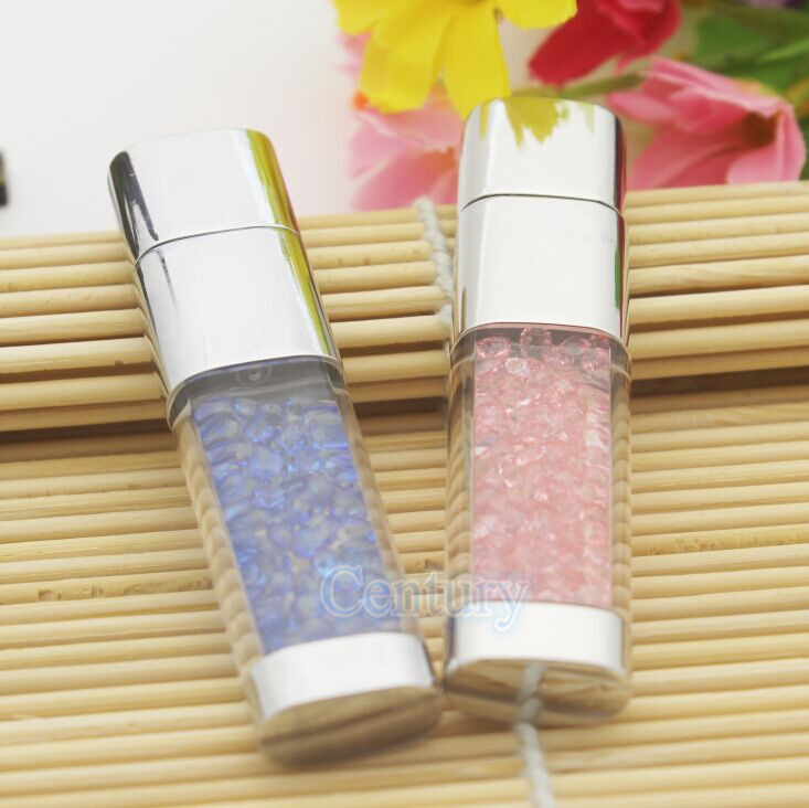 Free Shipping Crystal Diamond pendrive 8gb 16gb 32gb pen cap USB Flash Drive memory stick lovely gift for girls lover 9 colors(China (Mainland))