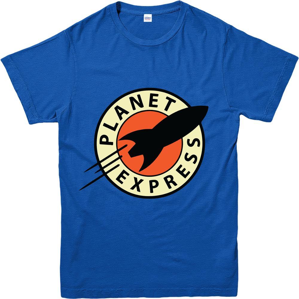 White t shirt express - Futurama T Shirt Planet Express T Shirt Inspired Design Top Men Summer Short Sleeves Casual White O Neck Cotton T Shirt