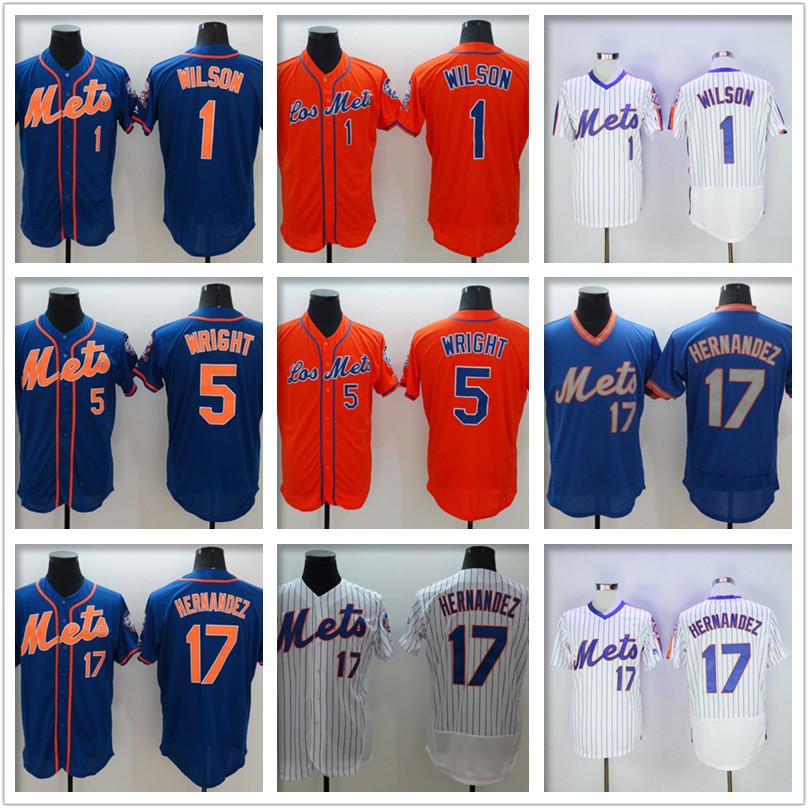 top quality 2016 Mens 1 Mookie Wilsons 5 David Wright 17 Hernandez 100% stitched Jersey Flexbase baseball Jerseys SizeM-XXXL(China (Mainland))