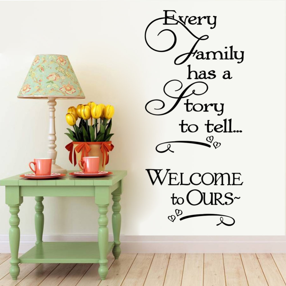 Wel e to our home Family quote wall decals decorative