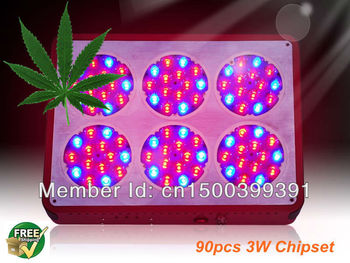2pcs/lot  High power grow light led 270w  full spectrum for hydroponic greenhouse with DHL/Fedex for free shipping