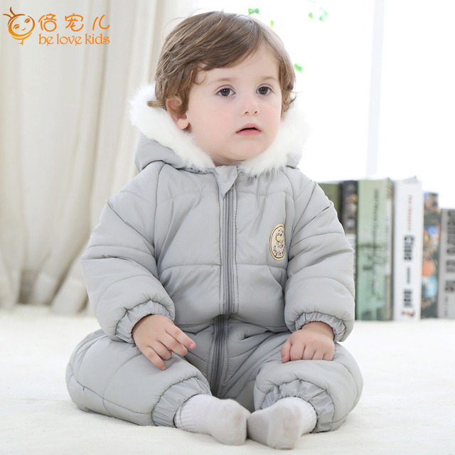 New 2016 Baby Romper Winter Cotton-padded One Piece Suits Newborn Baby Girl Boys Warm Jumpsuit Fashion Baby Outerwear PT419<br><br>Aliexpress