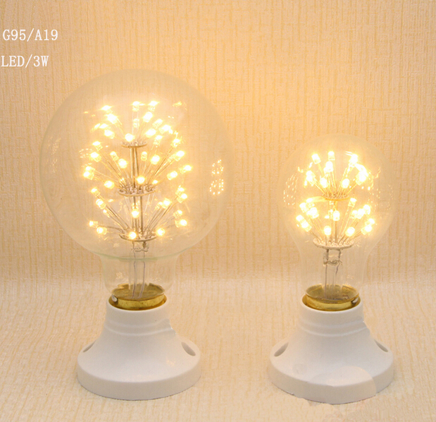Antique Edison LED all over the sky star special bulb T10 / ST64 retro American country decoration lamp package mail(China (Mainland))