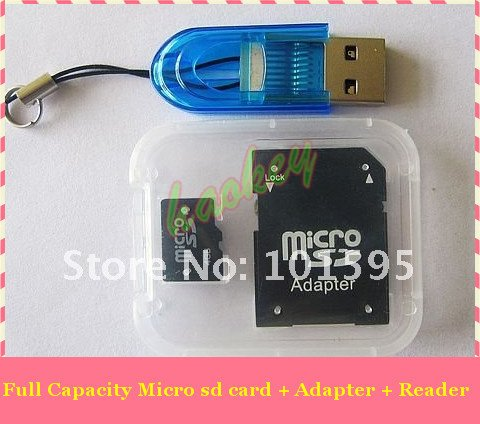 Good quality and best quality sd micro card memory card with free adapter and free TF card reader(China (Mainland))
