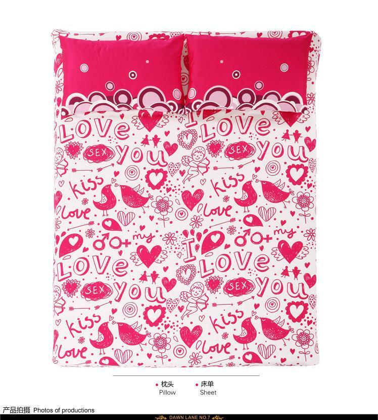 Sexy hot pink bedding comforter set bedroom bed sheets for Hot pink bedroom set
