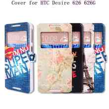 For HTC 626 New Phone Cases,Luxury Fashion Flip Stand Leather Cover Case For HTC Desire 626 626G Mobile Phone Screen Protector